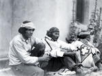 Pueblo Men, Place of the Governor's, Santa Fe with Navajo Blanket